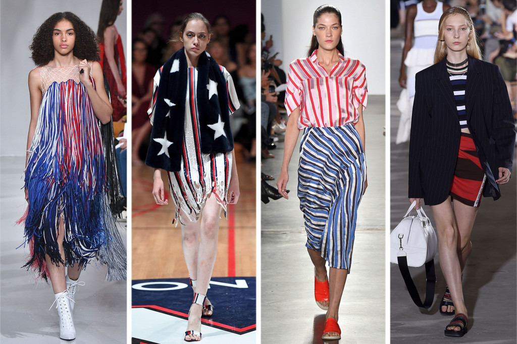 usa, america, fashion, trends, trend, red, white, blue, red white and blue, stars, stripes, glam, runway, fashion trends, 2018 fashion