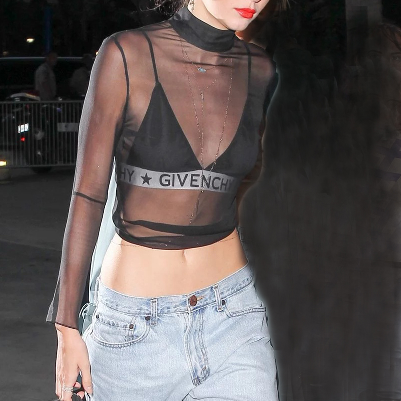 transparent, sheer, mesh, givenchy, kendall jenner, fashion, trends, models